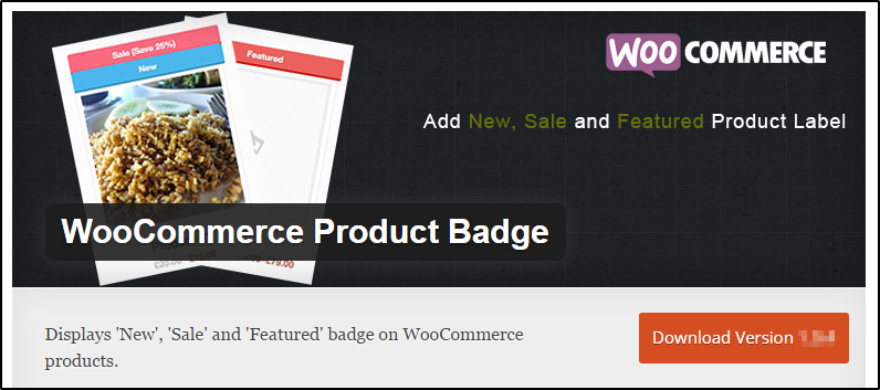 WooCommerce product badge