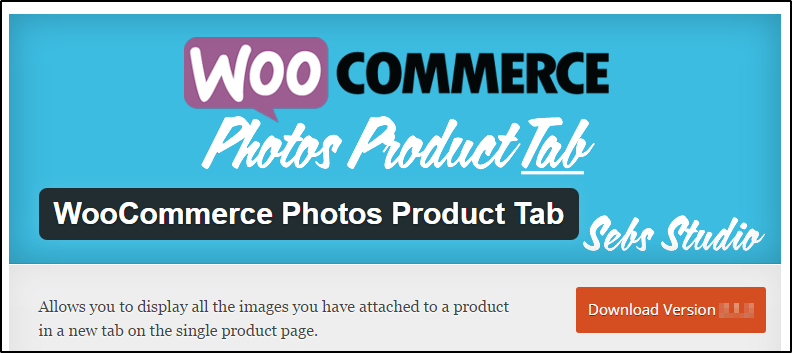 WooCommerce photo products tab