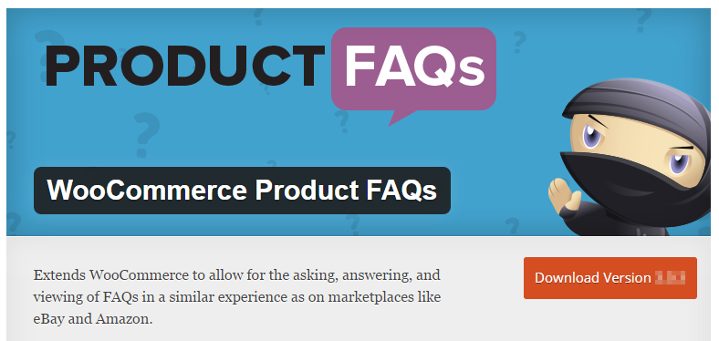 WooCommerce product faqs