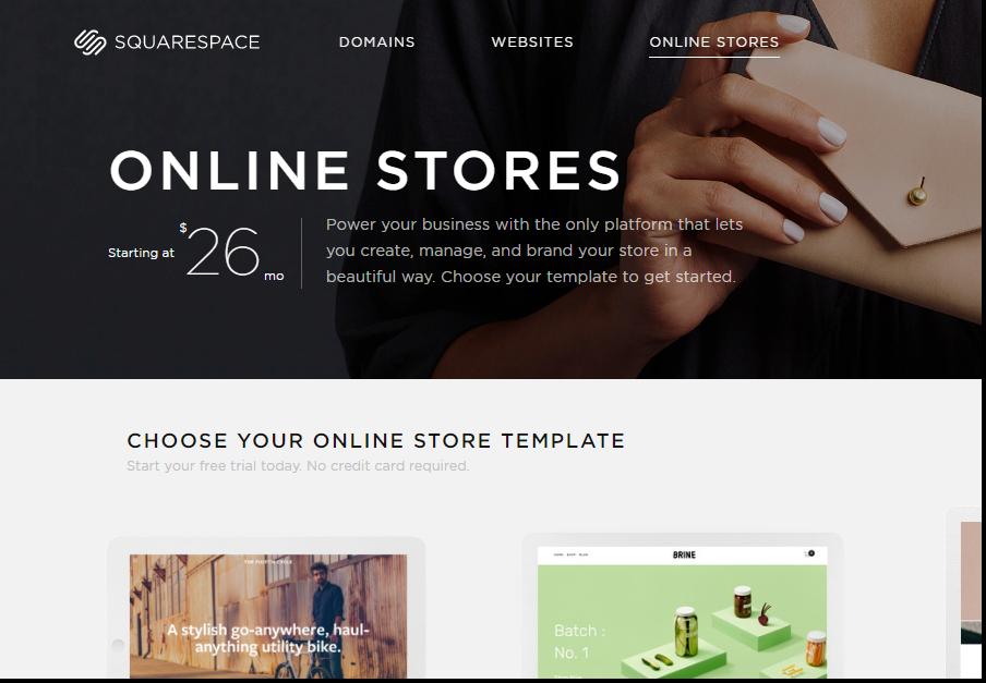 squarespace- best ecommerce platform