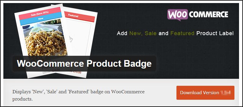 WooCommerce product badge