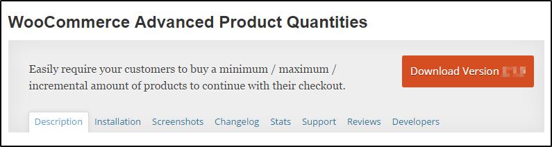 WooCommerce advanced product quantities