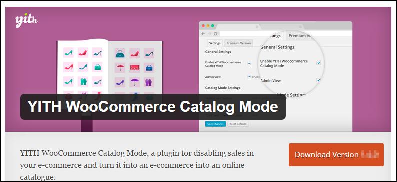 WooCommerce catalogue mode