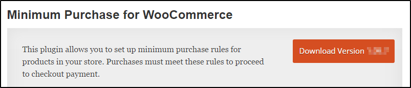 WooCommerce minimum purchase