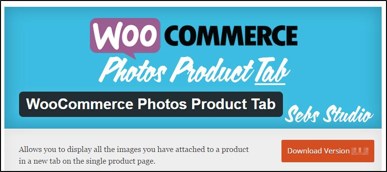 WooCommerce photo products tab