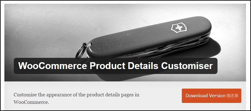 product details customizer